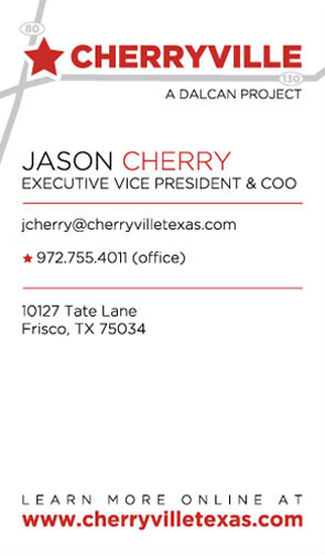 Jason Cherry's Business Card